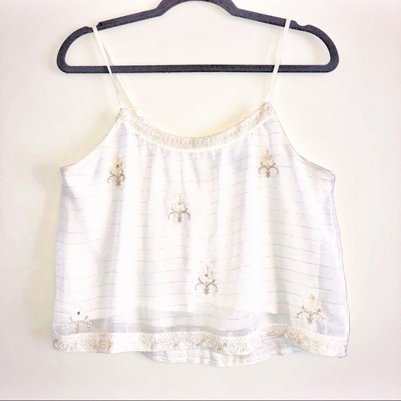 fdb28c03054 American Eagle Outfitters Tops | American Eagle White Embroidered ...